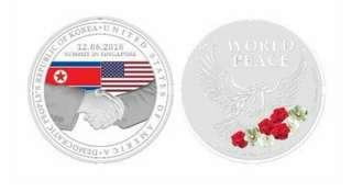 US-DPRK Summit Silver medal: 1 pc.
