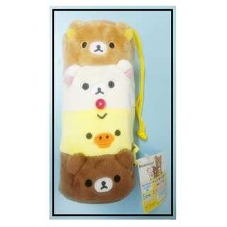 特價七算!!! 原價1480Yen 毛毛保冷樽/水壺套 Rilakkuma(鬆馳熊、鬆弛熊、輕鬆小熊、懶懶熊、リラックマ)