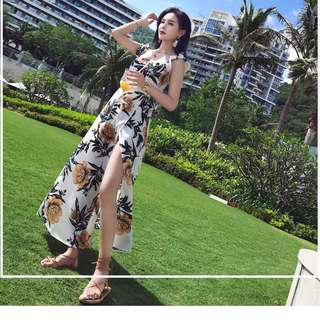 Dress Collection - Hot Summer Beach Style Romantic Long Split Design Dress