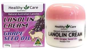 Healthy Care Lanolin Cream with Grape Seed Oil (Australia)