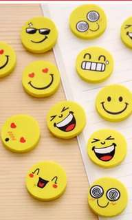 BN Assorted Smiley Face Erasers
