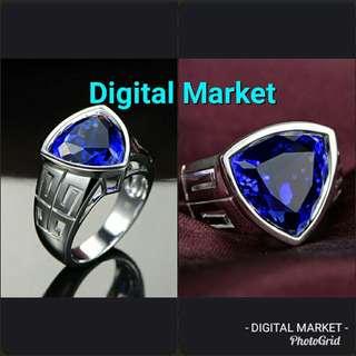 Cincin Blue Tanzanite ring Sterling Silver