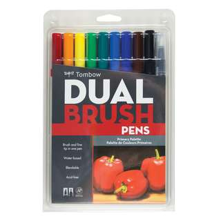 Tombow ABT Dual Brush Pen (10pcs/pack) - Primary Series