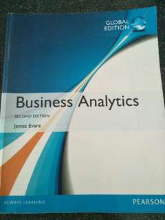 Business Analytics 2nd Edition