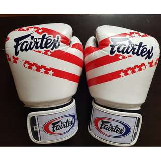 [100% Original] Fairtex Muay Thai Boxing Gloves premium leather with US Flag // Sarung Tinju Fairtex ORIGINAL!
