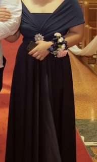 Navy Blue Infinity gown