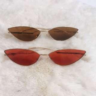 🚚 歐美 果凍貓眼復古太陽眼鏡