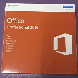 [全新未折, 買斷版] Microsoft Office 2016 Professional Edition with DVD