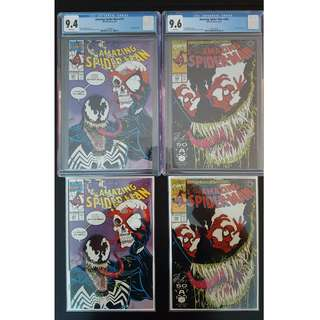 "And Yet Another Hot Present for Husbands & Boyfriends! Amazing Spider-man #346 & #347,#346 CGC 9.6,#347 CGC 9.4(1991, 1st Series)- Set of 4, So Hot,it's Scorching! VENOM! ""One to Read,One to Keep"" Series."