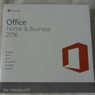 [全新未折, 買斷版] Microsoft Office 2016 Home & Business Edition with DVD