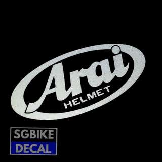 Arai reflective decal