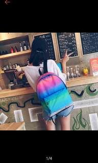 Fashion Rainbow Korean Canvas Backpack