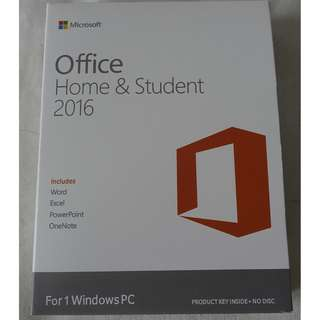[全新未折, 買斷版] Microsoft Office 2016 Home and Student Edition