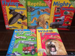 50 reusable stickers books
