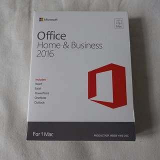 [全新未折, 買斷版] Microsoft Office 2016 Home and Business (For MAC)