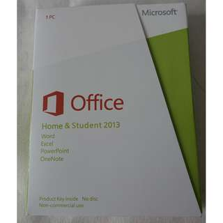 [全新未折, 買斷版] Microsoft Office 2013, Home & Student Edition