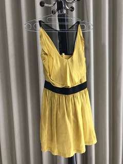 CIEL mini yellow dress