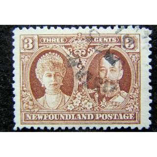 1931年英屬紐芬蘭(British Newfoundland)英皇佐治五世及瑪麗皇后像3仙郵票(拼入加拿大前期)