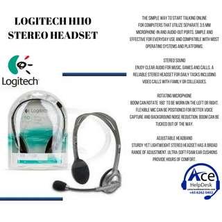 🚚 BNIB LOGITECH H110 STEREO HEADSET