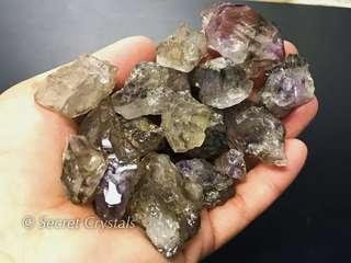 Super 7 natural crystal (Brazil) elestial cluster shape
