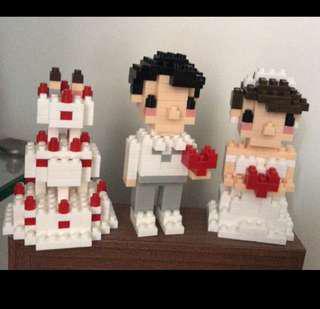 結婚Lego 新郎新娘蛋糕 一套賣 (全新未砌、代朋友放)