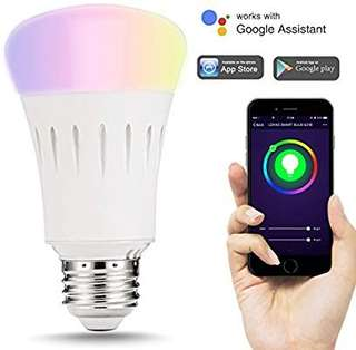 (123) LOHAS Smart LED Bulb, Wi-Fi Light, Multicolored LED Bulbs