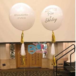 "36"" personalised helium balloon"