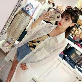 🚚 【Jolie PLUS】→清透微夏感←透紗長版襯衫
