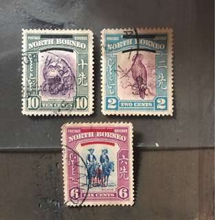 Malaya North Borneo early stamps 3v Used