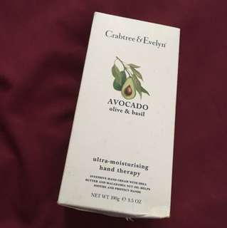 Crabtree & Evelyn avocado olive and basil handcream