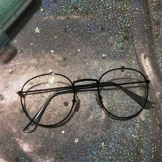 🚚 無度數圓眼鏡