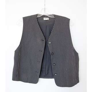 MEXX women's black striped vest. Office, casual, smart chic. Hipster, classy M