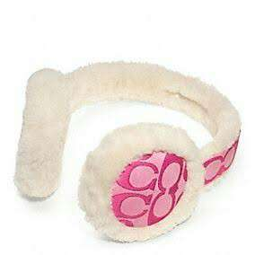 Authentic Coach Earmuffs Headphones