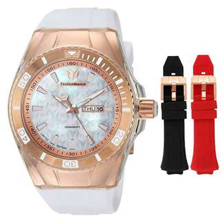 Free Ship Technomarine 115375 Cruise Quartz Stainless Silicone Men's/Womens Ladies watch