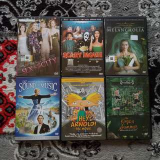 Assorted DVD Movies: Comedy, Drama, Animation, Classic