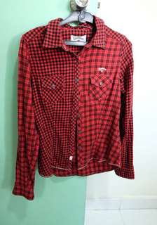 Converse long sleeve checkered red shirt