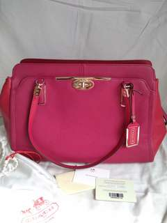Coach Madison Turnlock Leather