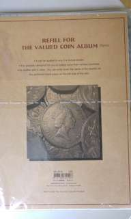 Refill for the valued coin album-10pcs