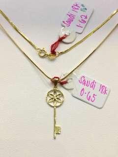 Saudi Gold 18K Key