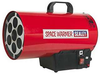 Sealey LP55 Space Warmer Propane Heater, 230V - Red