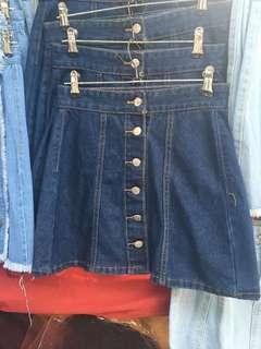 Denim Button Down Skirts