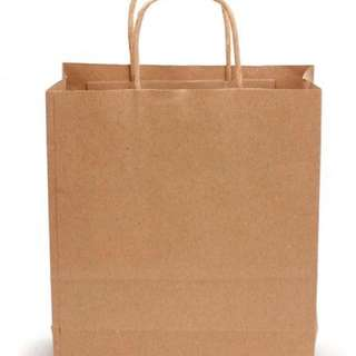 Portable Kraft paper bag (Brown) - Ready Stock
