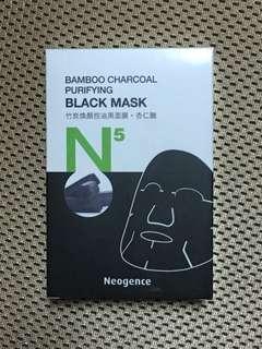 霓淨思 N5 黑面膜 竹炭煥顏控油黑面膜