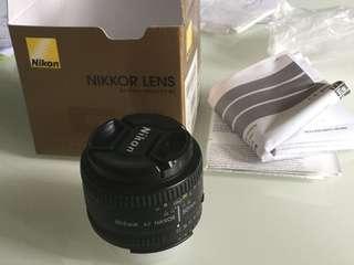 Nikon Nikkor lens 50mm f1.8D