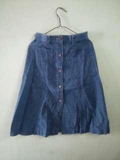 Highwaist , rok jeans