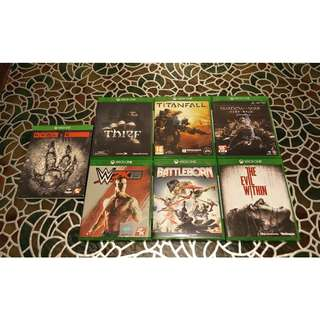 Xbox One Games for Sale (Sold as a bundle/set only)
