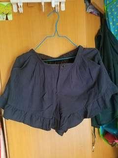深藍色花邊橡根頭裙褲