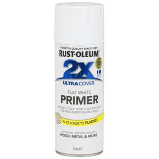Rust-Oleum Ultra Cover 2x Spray Paint Primer 12oz (Flat White)