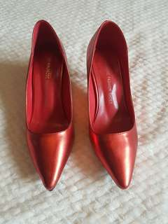 Red Metallic Shoes