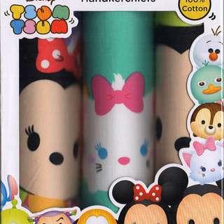 Tsum Tsum B Handkerchief Set of 3